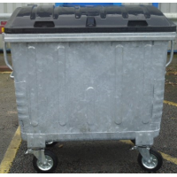 1100L Galavanised Waste Container