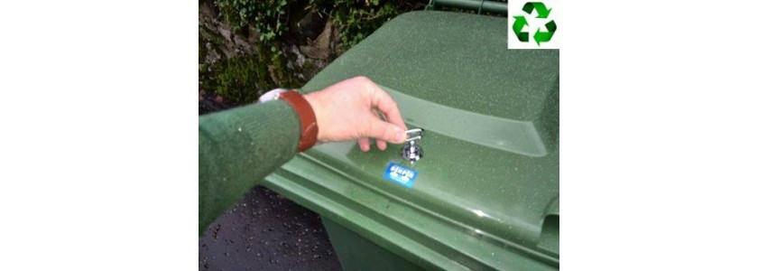 Wheelie bin lid locks