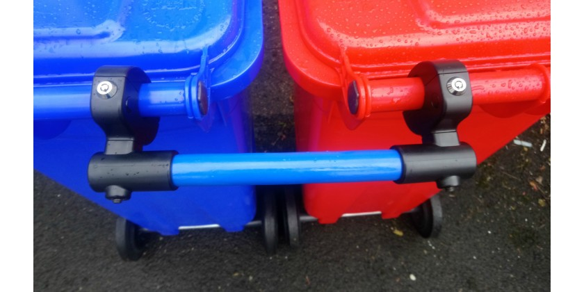 Bin Clamps, Rotate, locate & secure
